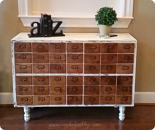 DIY faux card catalog