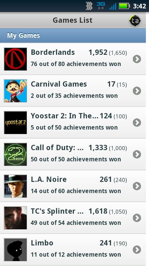 Trueachievements Mobile - screenshot