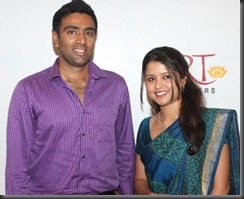 Cricketer Ashwin and Preethi at the Launch of GRT Platinum Bangles Collection