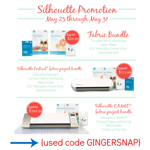 Silhouette Promotion {May 23-31}