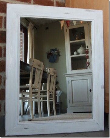 Simple shabby chic mirror