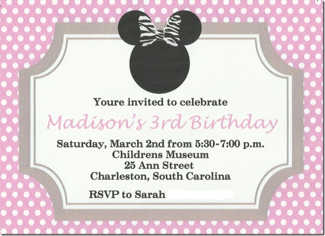 The Condon Story Minnie Mouse 3rd Birthday Party