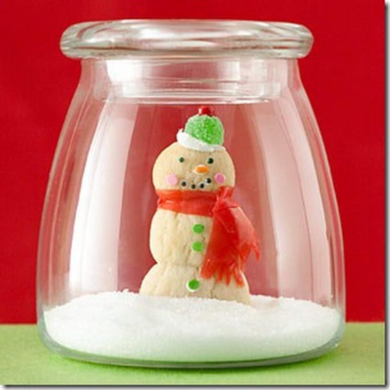 Tarros de nieve, manualidades navidad