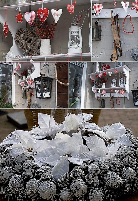 Songbird Christmas Outdoor Decorations Collage