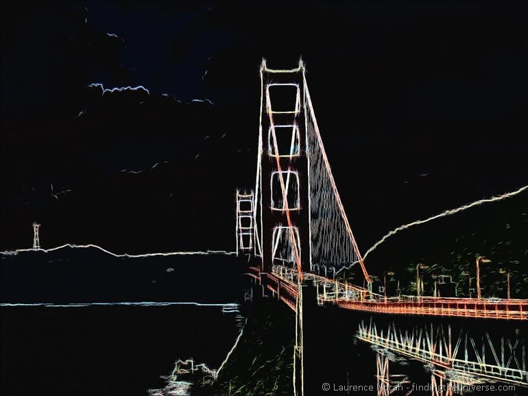 Golden Gate Bridge Crayon