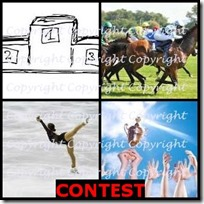 CONTEST- 4 Pics 1 Word Answers 3 Letters