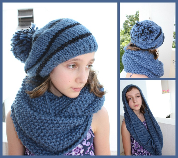Cowl and hat for Maud1