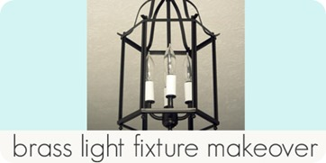 brass light fixture makeover