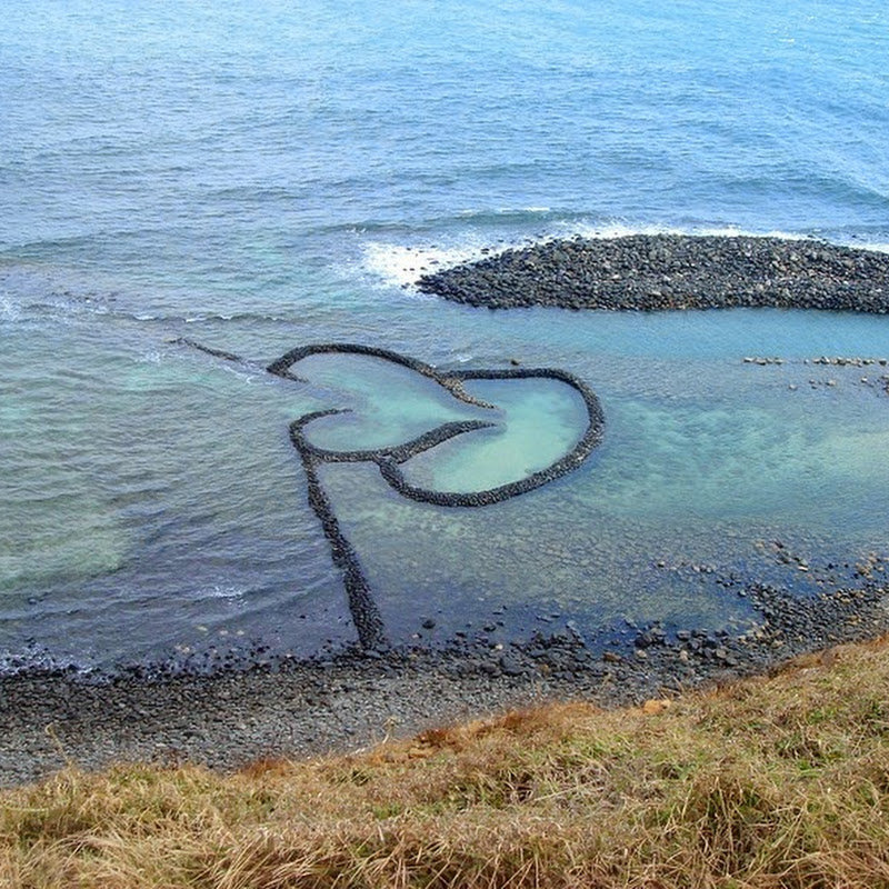 Twin-Heart Fish Trap in Penghu