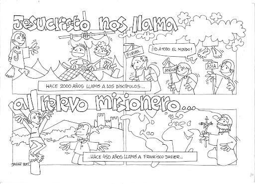 Las Misiones Y Los Niños Dibujos Para Colorear De Niños: Dibujos Solidarios Para Colorear
