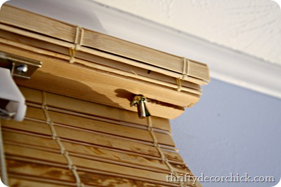 hanging bamboo blinds