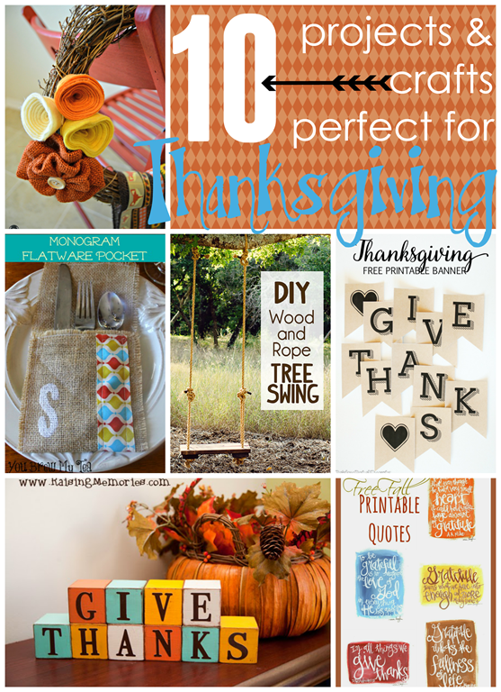 10 Projects & Crafts perfect for Thanksgiving #Thanksgiving #DIY at GingerSnapCrafts.com