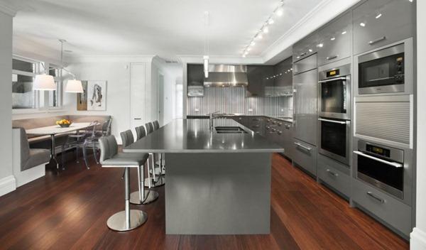 Muebles-de-cocina-de-diseño-color-gris