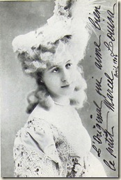 Photo de Louisa de Mornand dédicacée à  Marcel Proust