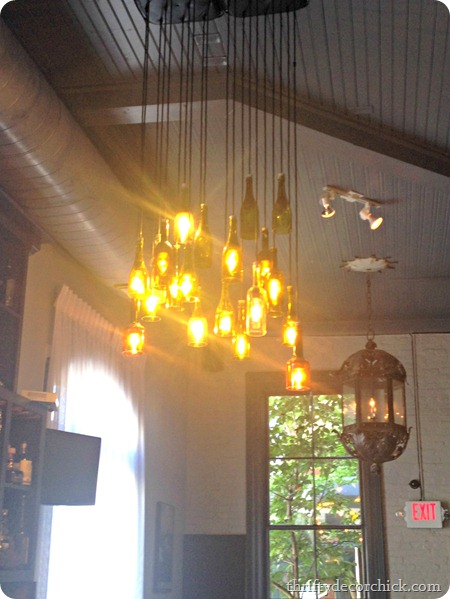 wine bottle light fixture
