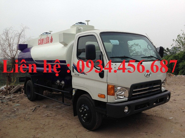 Bán xe chở xăng dầu Hyundai 110s