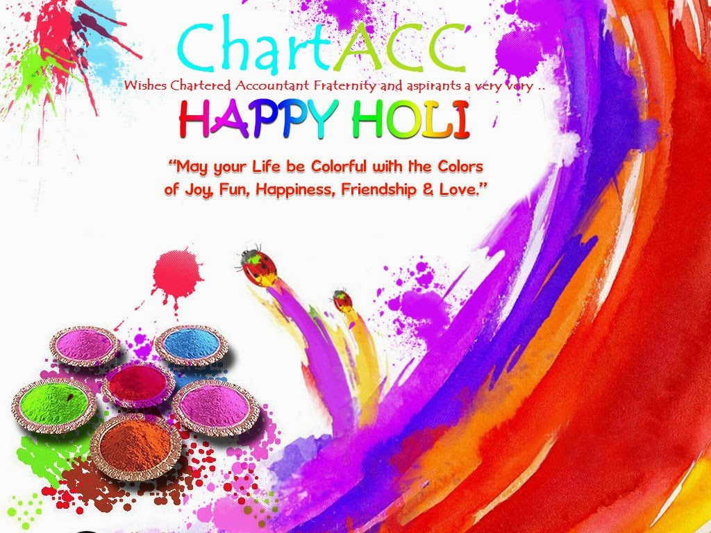 Chart Acc wishes Happy Holi to Chartered Accountant Fraternity by Vikrmn CA Vikram Verma Author 10 Alone