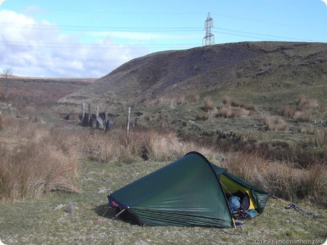 camping spot with pylon
