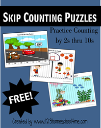 Skip Counting Puzzles for Kindergarten - 4th grade