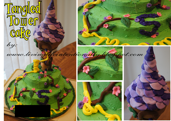 Tangled Birthday Cake - Tower cake