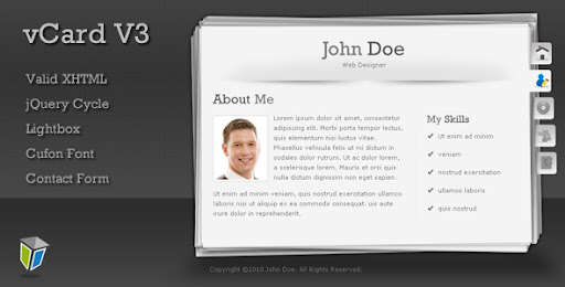 Vcard3 Unique And Professional Vcard Template