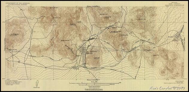 Rhyolite Nevada Map Ken's Photo Gallery: Ghost Town of Rhyolite, Nevada   Summary Page