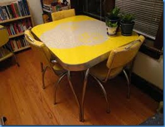 yellow and gray table