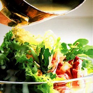 Apple, Cider Salad with Melted Camembert Dressing