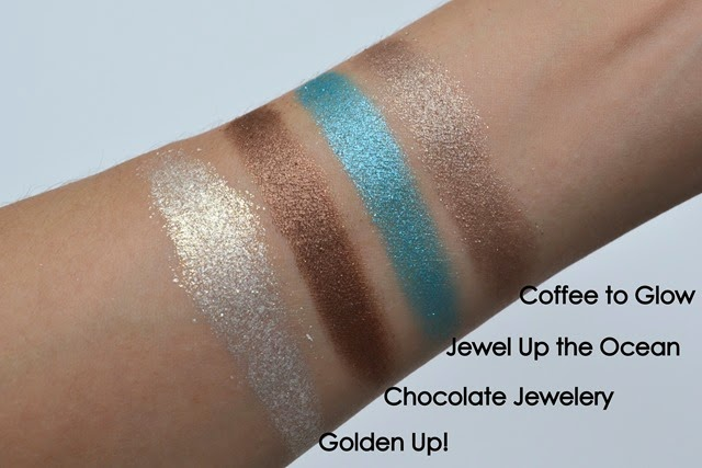 Essence Metal Glam Eyeshadows Swatches