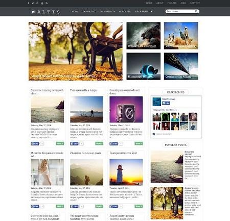 Template Blogspot - Altis - Responsive