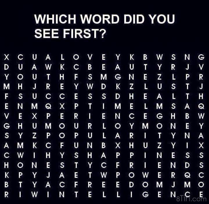❤ 3 từ đầu tiên bạn nhìn thấy chính là điều bạn