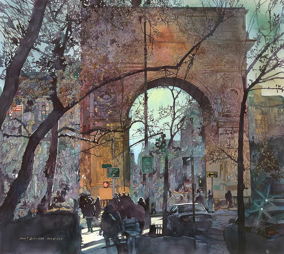 "Washington Square 37""x33"""