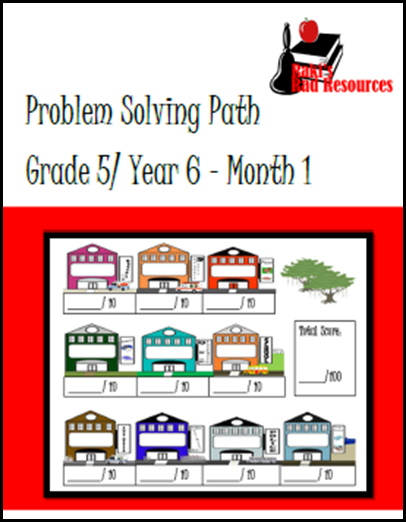 Fifth grade problem solving path journal - free download from Raki's Rad Resources.