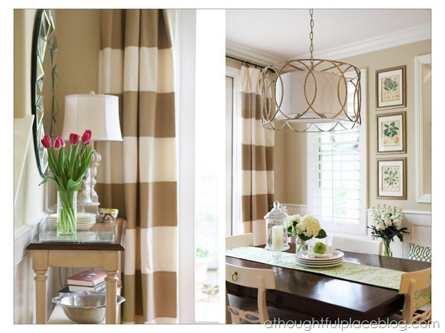 Do It Yourself Striped Drapes Tutorial