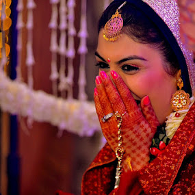 Best Moments of Life by Shrey Chohan - Wedding Bride ( love, wedding, indian, happiness, candid, couple, bride, culture )