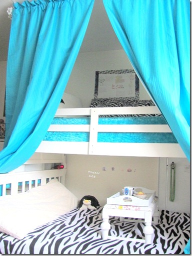 Curtains over bunk bed