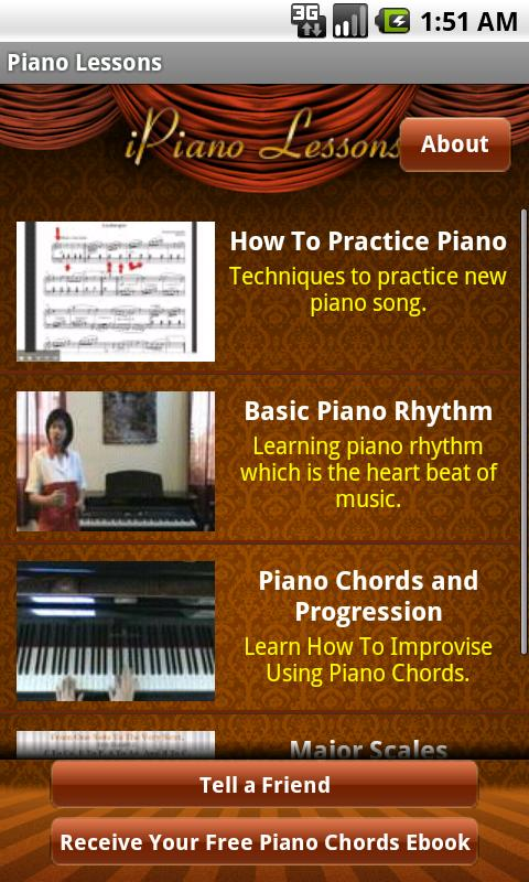 Piano Lessons App - screenshot