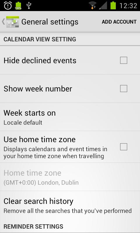 Android 4.1 Jellybean Calendar - screenshot