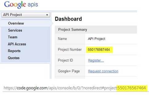 project-number-google-api