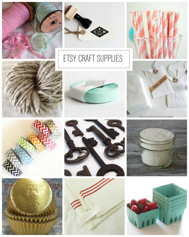 Etsy Craft Supplies via homework