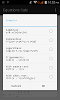 Screenshot of Equation Step-by-Step Calc