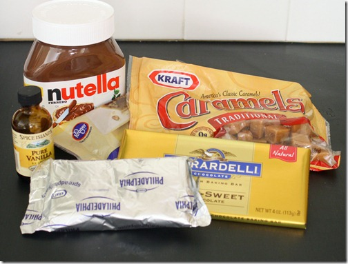 Nutella Turtle Truffle ingredients via The Shabby Creek Cottage