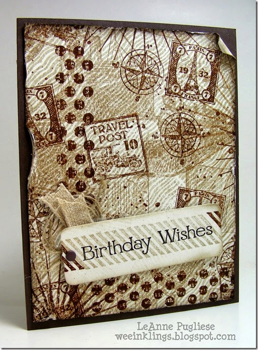 LeAnne Pugliese WeeInklings Stampin Royalty 240 Stampin Up Vintage Backgrounds Birthday