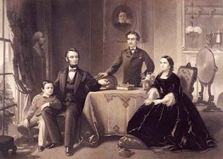 Tổng thống Mỹ Abraham Lincoln bên gia đình.