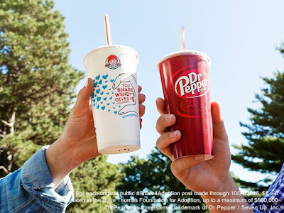 Join us and Dr Pepper in supporting the Dave Thomas Foundation for