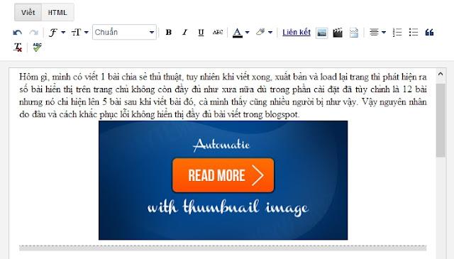 Hiển thị đầy đủ bài viết trên trang chủ Blogspot?