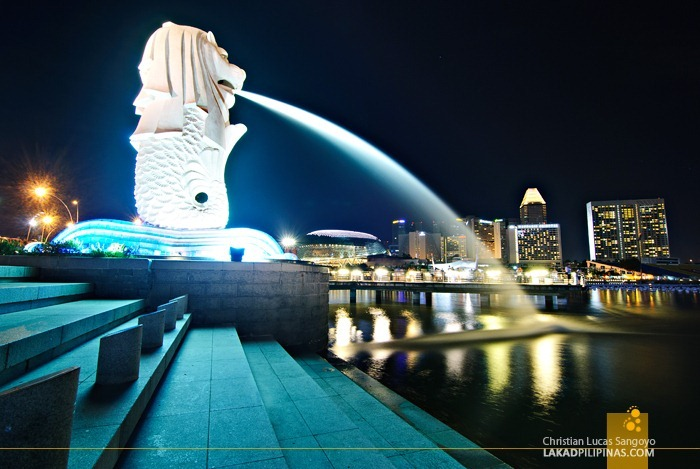 The Iconic Merlion at Singapore's Marina Bay