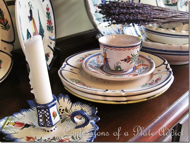 CONFESSIONS OF A PLATE ADDICT Quimper collection