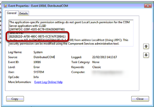 CSCM IT Solutions: DCOM Properties greyed out in Windows 2008 R2