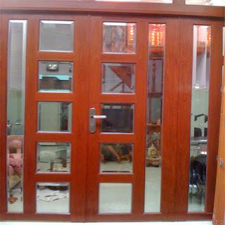 Mẫu cửa vân gỗ